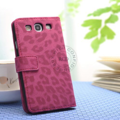 Hot For Samsung Galaxy S3 I9300 Leather Wallet Case Pu Leopard Ski 1064181343-1-hot pink