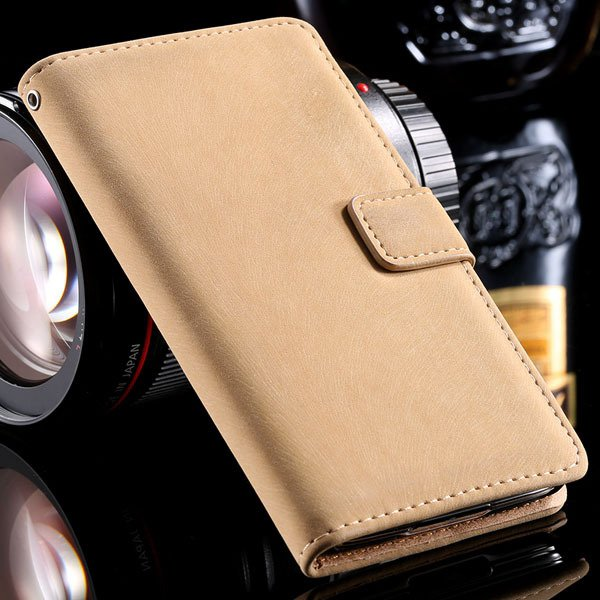 S5 Stand Case Flip Phone Cover For Samsung Galaxy S5 Sv I9600 Full 32261600083-4-beige