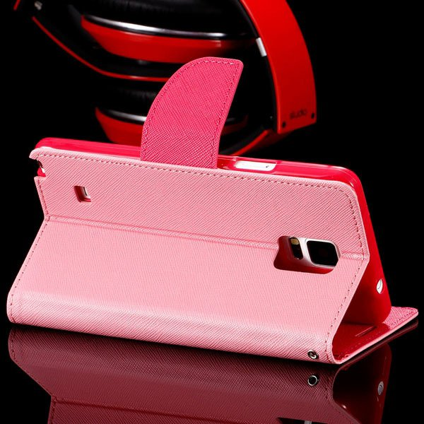 For Note 4 Flip Wallet Cover For Samsung Galaxy Note 4 N9100 Full  32260100946-2-pink