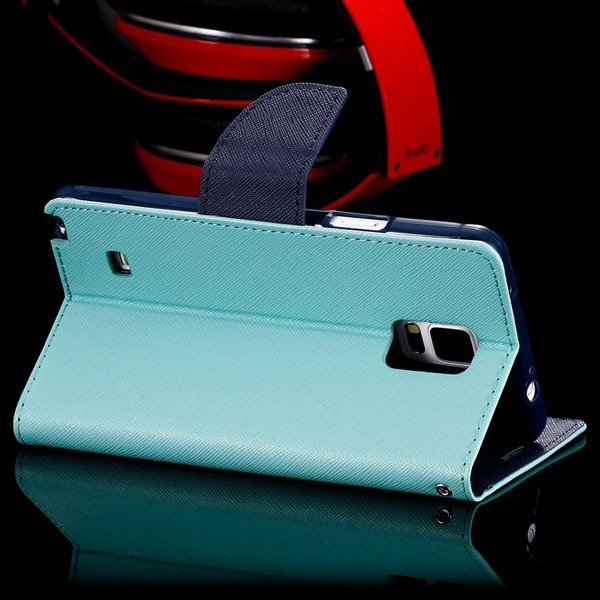 For Note 4 Flip Wallet Cover For Samsung Galaxy Note 4 N9100 Full  32260100946-11-mint green
