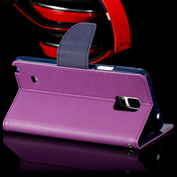 For Note 4 Flip Wallet Cover For Samsung Galaxy Note 4 N9100 Full  32260100946-12-purple