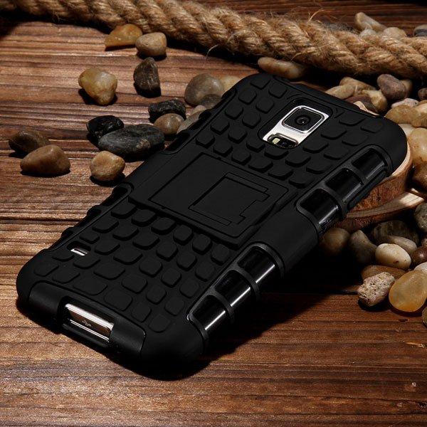 S5 Heavy Duty Case Armor Cover For Samsung Galaxy S5 Sv I9600 G900 32273877350-7-black