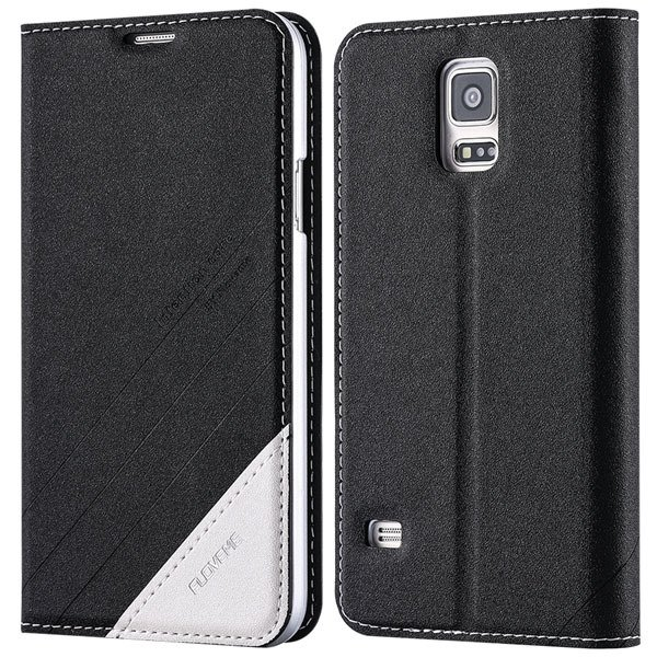 S5 Pu Leather Case Original Flip Cover For Samsung Galaxy S5 Sv I9 32267055276-1-black
