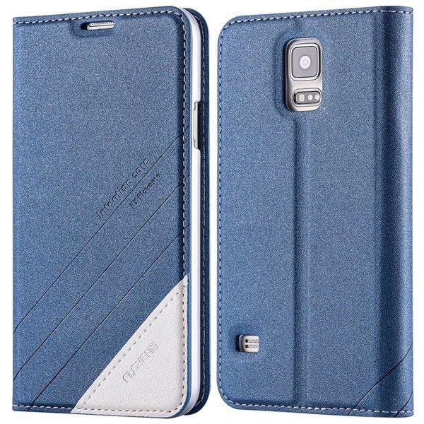 S5 Pu Leather Case Original Flip Cover For Samsung Galaxy S5 Sv I9 32267055276-2-blue