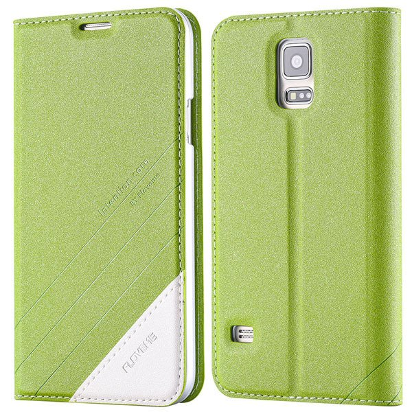 S5 Pu Leather Case Original Flip Cover For Samsung Galaxy S5 Sv I9 32267055276-4-green