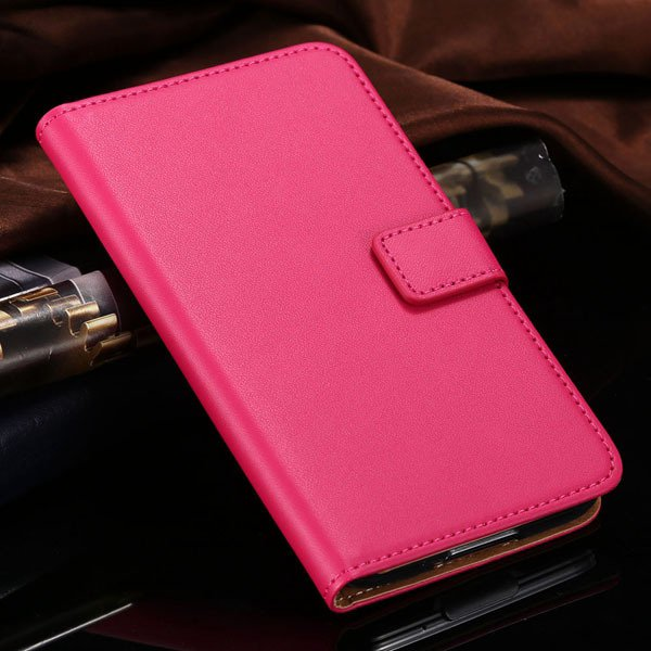 S5 Flip Cell Phone Case Genuine Leather Cover For Samsung Galaxy S 1807291607-3-hot pink