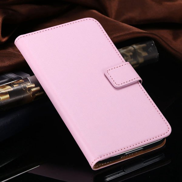 S5 Flip Cell Phone Case Genuine Leather Cover For Samsung Galaxy S 1807291607-5-pink