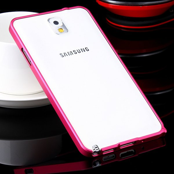 Shiny Arrival 0.7Mm Ultra Thin Metal Frame Case For Samsung Galaxy 32247624583-7-hot pink