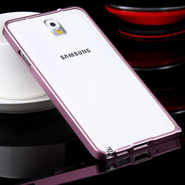 Shiny Arrival 0.7Mm Ultra Thin Metal Frame Case For Samsung Galaxy 32247624583-9-pink