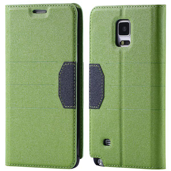 Cool Style Full Cover For Samsung Galaxy Note 4 N9100 Leather Case 32246896180-2-green