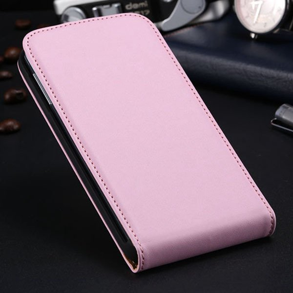 S5 Flip Real Leather Case For Samsung Galaxy S5 I9600 Full Protect 1790067218-3-pink