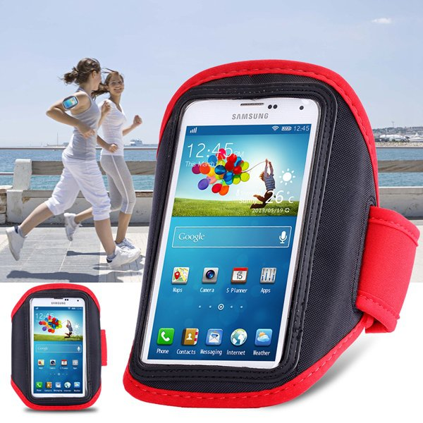 Fashion Red Running Sport Arm Band Cover For Samsung Galaxy S5 S4  32247441381-1-