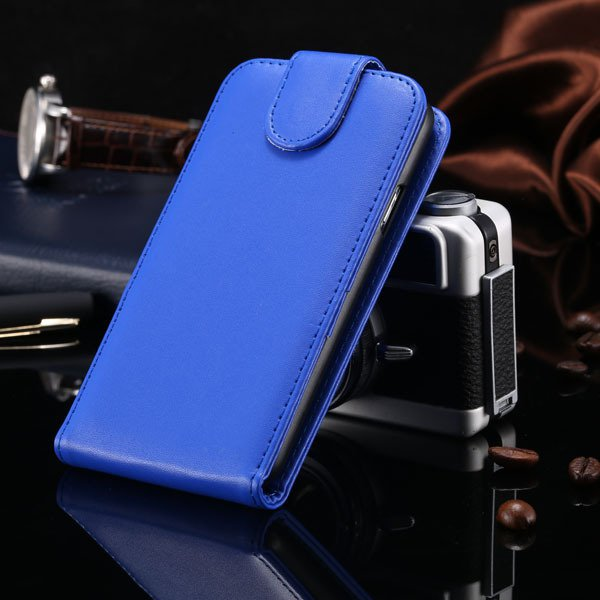S5 Vertical Flip Case For Samsung Galaxy S5 I9600 Cover Pu Leather 1760121311-5-blue