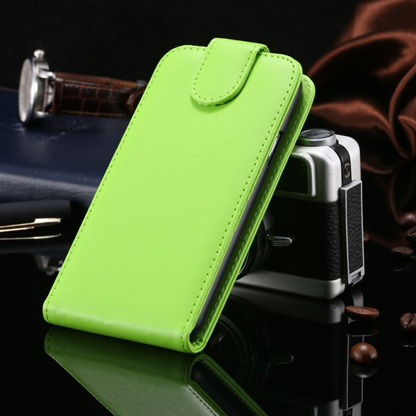 S5 Vertical Flip Case For Samsung Galaxy S5 I9600 Cover Pu Leather 1760121311-6-green