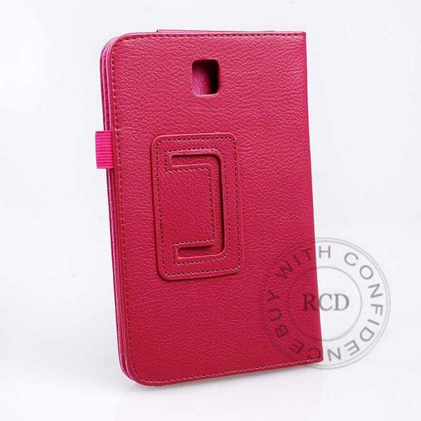 Flip Stand Full Case For Samsung Galaxy Tab 3 P3200 7.0 Elegant Pu 1138274901-4-hot pink