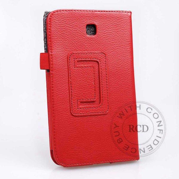 Flip Stand Full Case For Samsung Galaxy Tab 3 P3200 7.0 Elegant Pu 1138274901-5-orange