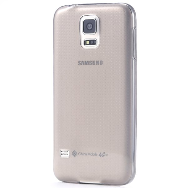 S5 Clear Tpu Case 0.3Mm Soft Rubber Back Cover For Samsung Galaxy  32297857781-1-black