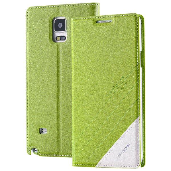 For Note 4 Wallet Case Original Magnetic Flip Cover For Samsung Ga 32266848553-4-green