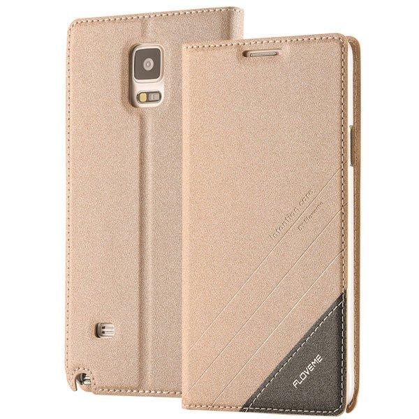 For Note 4 Wallet Case Original Magnetic Flip Cover For Samsung Ga 32266848553-5-gold
