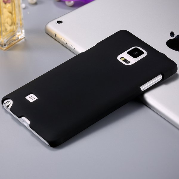 Note 4 Ultra Slim Case Mat Lubricating Smooth Back Cover For Samsu 32280965420-1-black