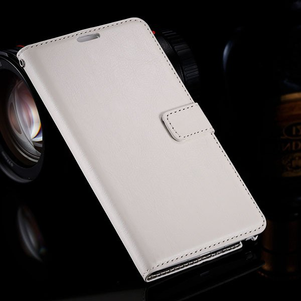 Note 4 Luxury Pu Leather Case Flip Wallet Cover For Samsung Galaxy 32283665438-2-white