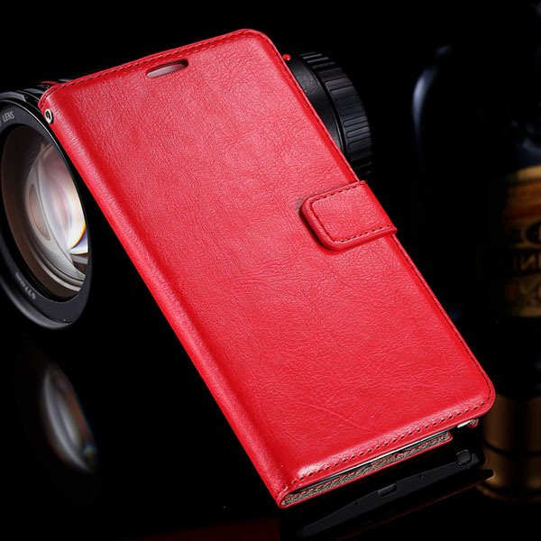 Note 4 Luxury Pu Leather Case Flip Wallet Cover For Samsung Galaxy 32283665438-3-red