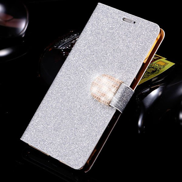 For Note 4 Luxury Bling Rhinestone Case Full Wallet Cover For Sams 32275829676-2-silver