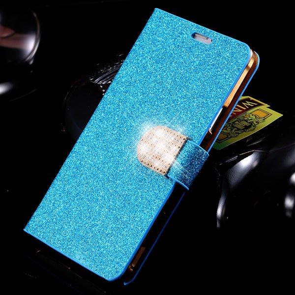 For Note 4 Luxury Bling Rhinestone Case Full Wallet Cover For Sams 32275829676-3-blue