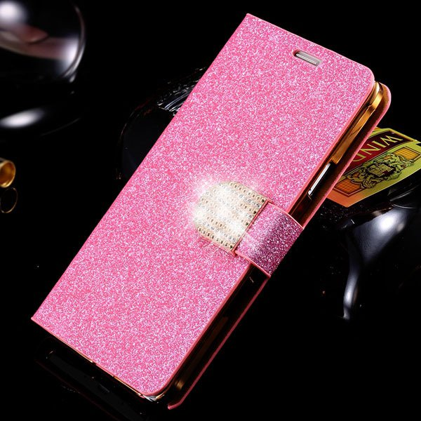 For Note 4 Luxury Bling Rhinestone Case Full Wallet Cover For Sams 32275829676-6-pink