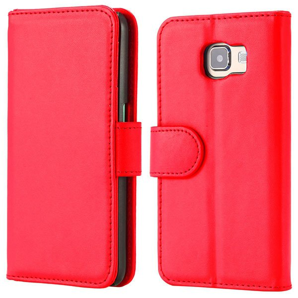 S6 Flip Pu Leather Cover Luxury Full Protect Skin Case For Samsung 32299079566-4-red