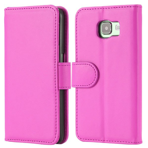 S6 Flip Pu Leather Cover Luxury Full Protect Skin Case For Samsung 32299079566-8-rose