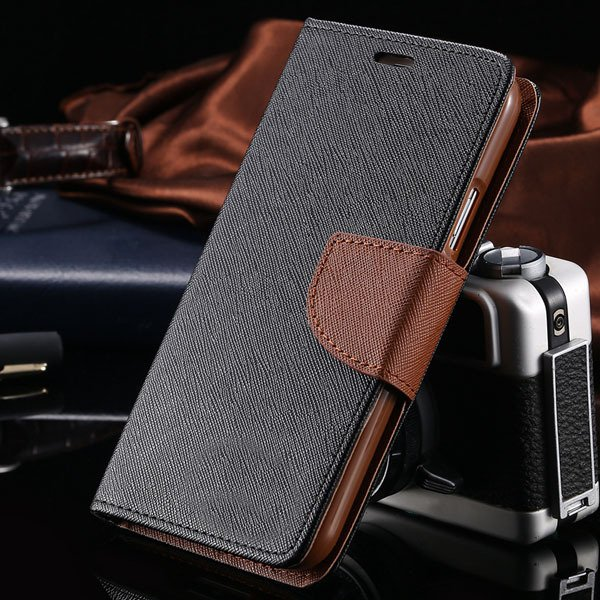 S6 Luxury Pu Leather Case Wallet Book Cover For Samsung Galaxy S6  32301691284-1-black brown