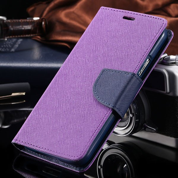 S6 Luxury Pu Leather Case Wallet Book Cover For Samsung Galaxy S6  32301691284-2-purple