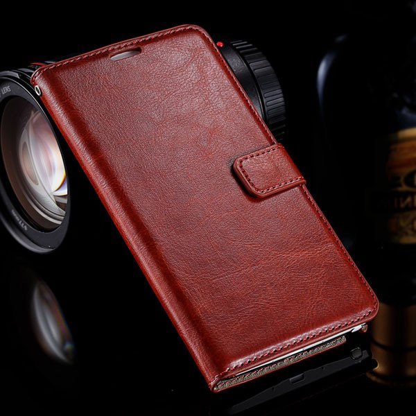 Note 4 Photo Display Flip Case Pu Leather Cover For Samsung Galaxy 32283939907-5-brown