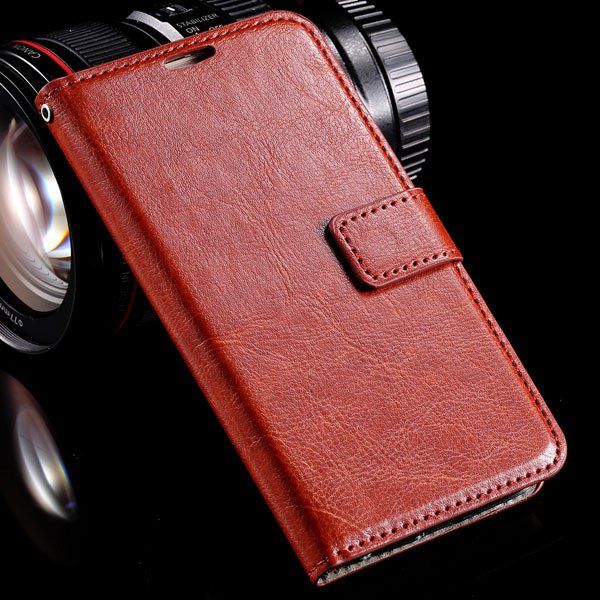 S6 Leather Cover Full Wallet Case For Samsung Galaxy S6 G9200 Luxu 32294771885-6-brown