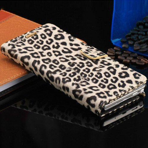 New Arrival Luxury Leopard Wallet Pu Leather Case For Samsung Gala 1321819662-2-Khaki