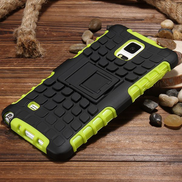 For Note 4 Armor Case Heavy Duty Back Cover For Samsung Galaxy Not 32274808277-2-green