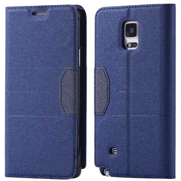 Full Pu Leather Case For Samsung Galaxy Note 4 N9100 Flip Mango Pa 32246409376-1-blue