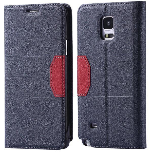 Full Pu Leather Case For Samsung Galaxy Note 4 N9100 Flip Mango Pa 32246409376-3-black