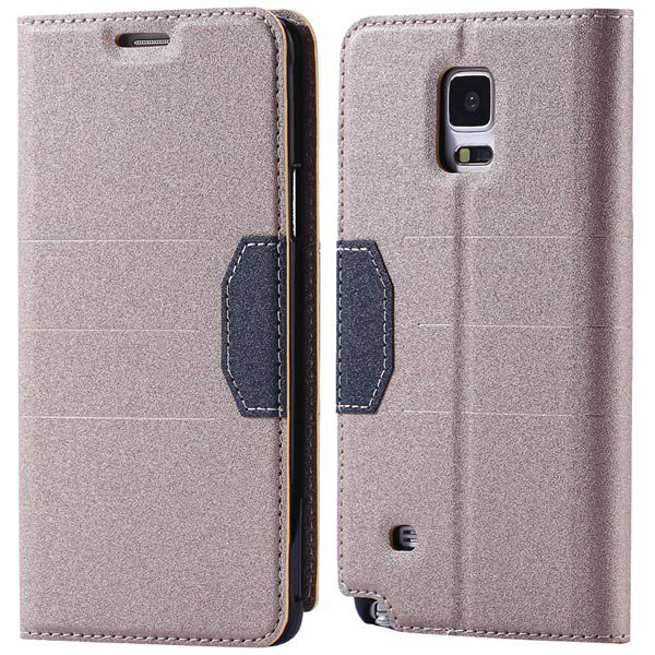 Full Pu Leather Case For Samsung Galaxy Note 4 N9100 Flip Mango Pa 32246409376-4-gold