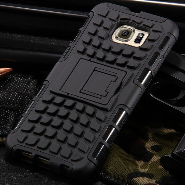 S6 Hybrid Case Anti-Skid Armor Cover For Samsung Galaxy S6 G9200 H 32304459338-1-black