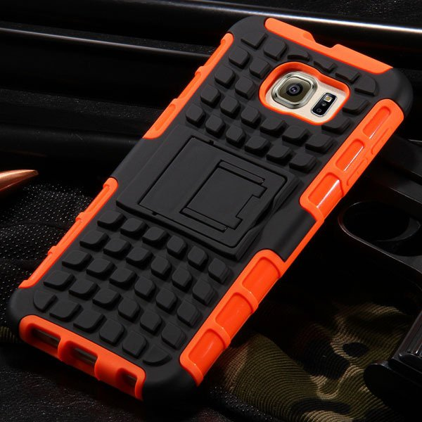 S6 Hybrid Case Anti-Skid Armor Cover For Samsung Galaxy S6 G9200 H 32304459338-6-orange