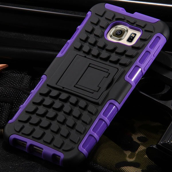 S6 Heavy Duty Armor Case Hybrid Back Cover For Samsung Galaxy S6 G 32304254839-7-purple