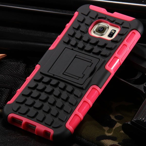 S6 Heavy Duty Armor Case Hybrid Back Cover For Samsung Galaxy S6 G 32304254839-8-rose