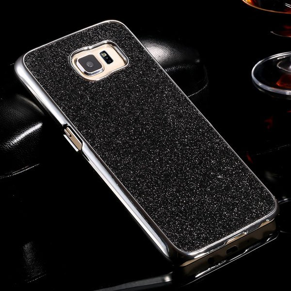S6 Aluminum Case Luxury Bling Glittering Cover For Samsung Galaxy  32304105229-1-black