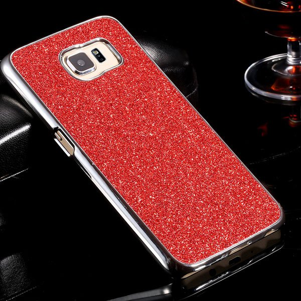 S6 Aluminum Case Luxury Bling Glittering Cover For Samsung Galaxy  32304105229-2-red