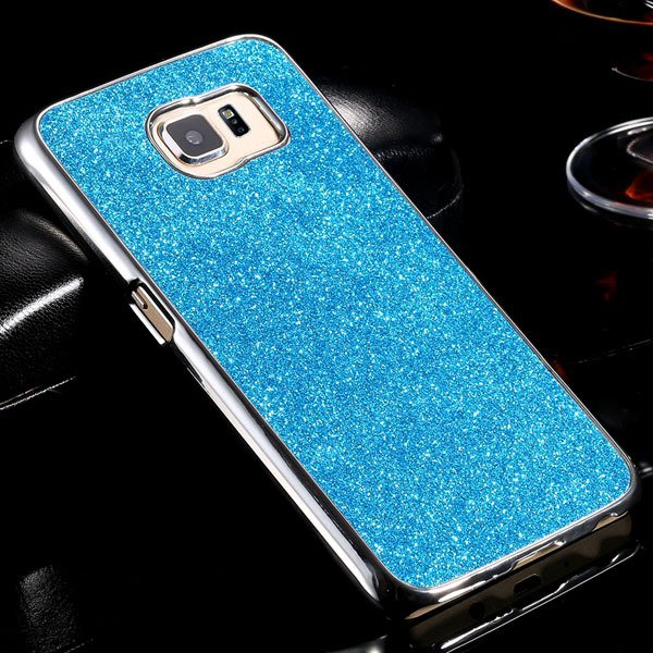 S6 Aluminum Case Luxury Bling Glittering Cover For Samsung Galaxy  32304105229-3-blue