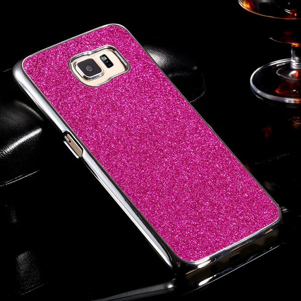S6 Aluminum Case Luxury Bling Glittering Cover For Samsung Galaxy  32304105229-5-rose
