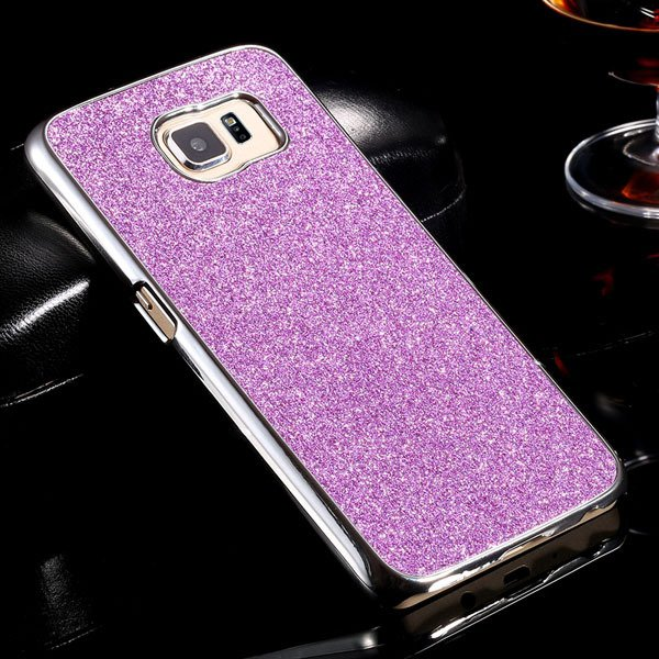 S6 Aluminum Case Luxury Bling Glittering Cover For Samsung Galaxy  32304105229-7-purple