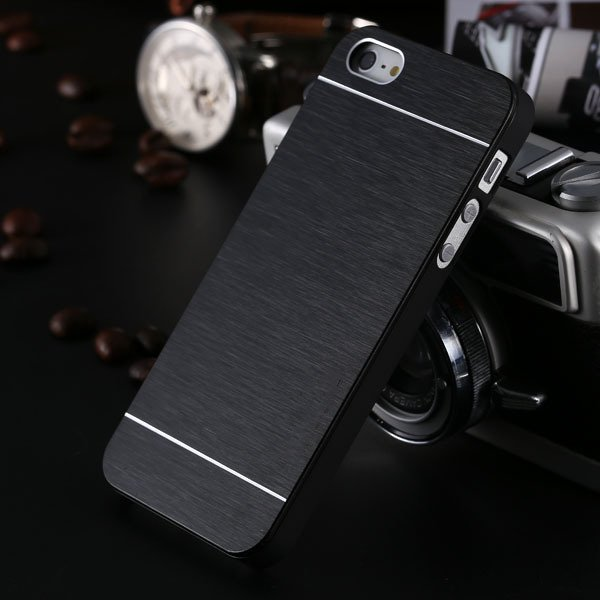 5S Aluminum Case Deluxe Gold Metal Brush Cover For Iphone 5 5S 5G  1810132892-1-black for 5s